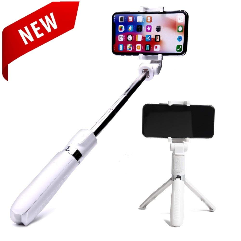 Rose Gold Bluetooth Speakers Selfie Stick CLEVERLOVE Portable Speaker Touch Wireless Stereo Bluetooth for iPhone Android Smart Phones for Outdoor Travel