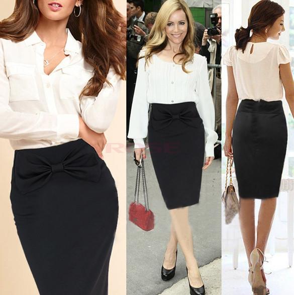 529503661 Nueva llegada Traje Mujeres Spring Business Falda tubo invierno OL faldas  para las mujeres rodilla Faldas Paso Negro Mini falda de Bodycon SV003881