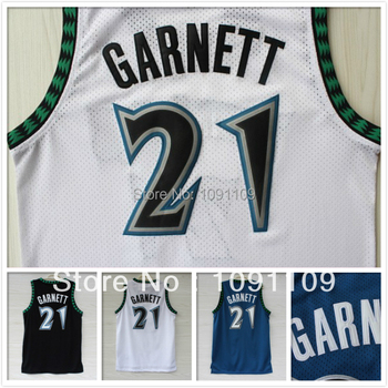 huge discount 33532 ab251 Minnesota 21 Kevin Garnett Basketball Jersey, Cheap Black ...