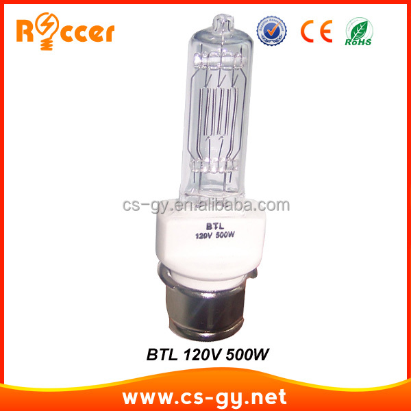 Hot selling cheap price BTL 120V halogen lamp 500w