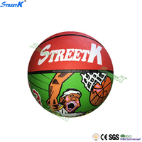 streetk brand wholesale rubber basketball cheap basketball hoop