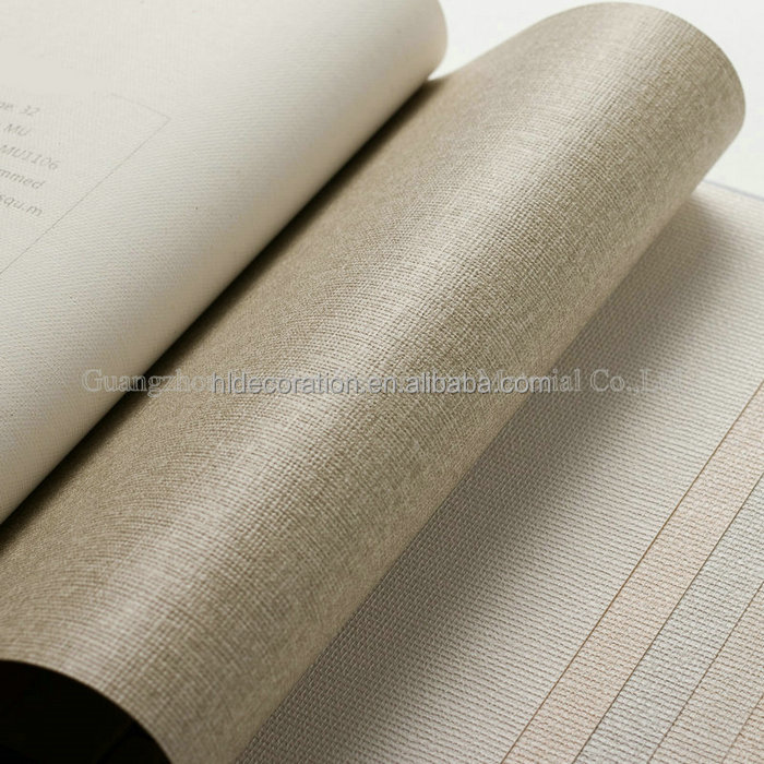 MU1108 HL Decoration B1 fire retadant fabric back vinyl wallpaper roll size