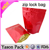 YASON lepe ziplock bags for file milk white printing ziplock bags with window hole 500g matte printed flat bottom side gusset co