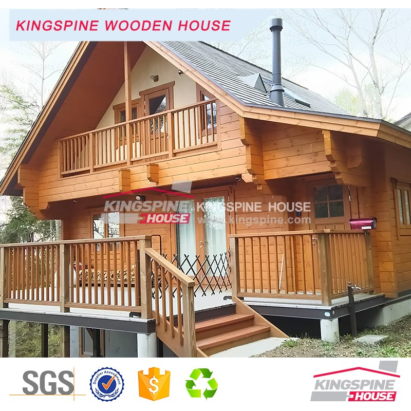 Japanese style Wooden house Chinese factory price prefabricated log cabin KPL-073
