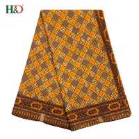 H & D Wholesale Factory African Hollandais Batik Indonesian Printed Wax Cotton Fabric With Angel Print