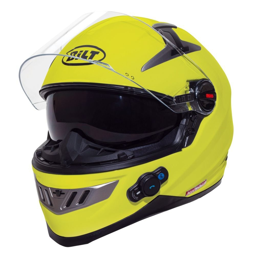 8df15890 Buy BILT Techno Bluetooth Adventure Motorcycle Helmet - MD, Matte ...