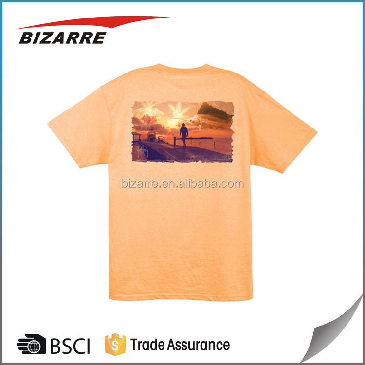Man o neck dye sublimation t-shirt printing