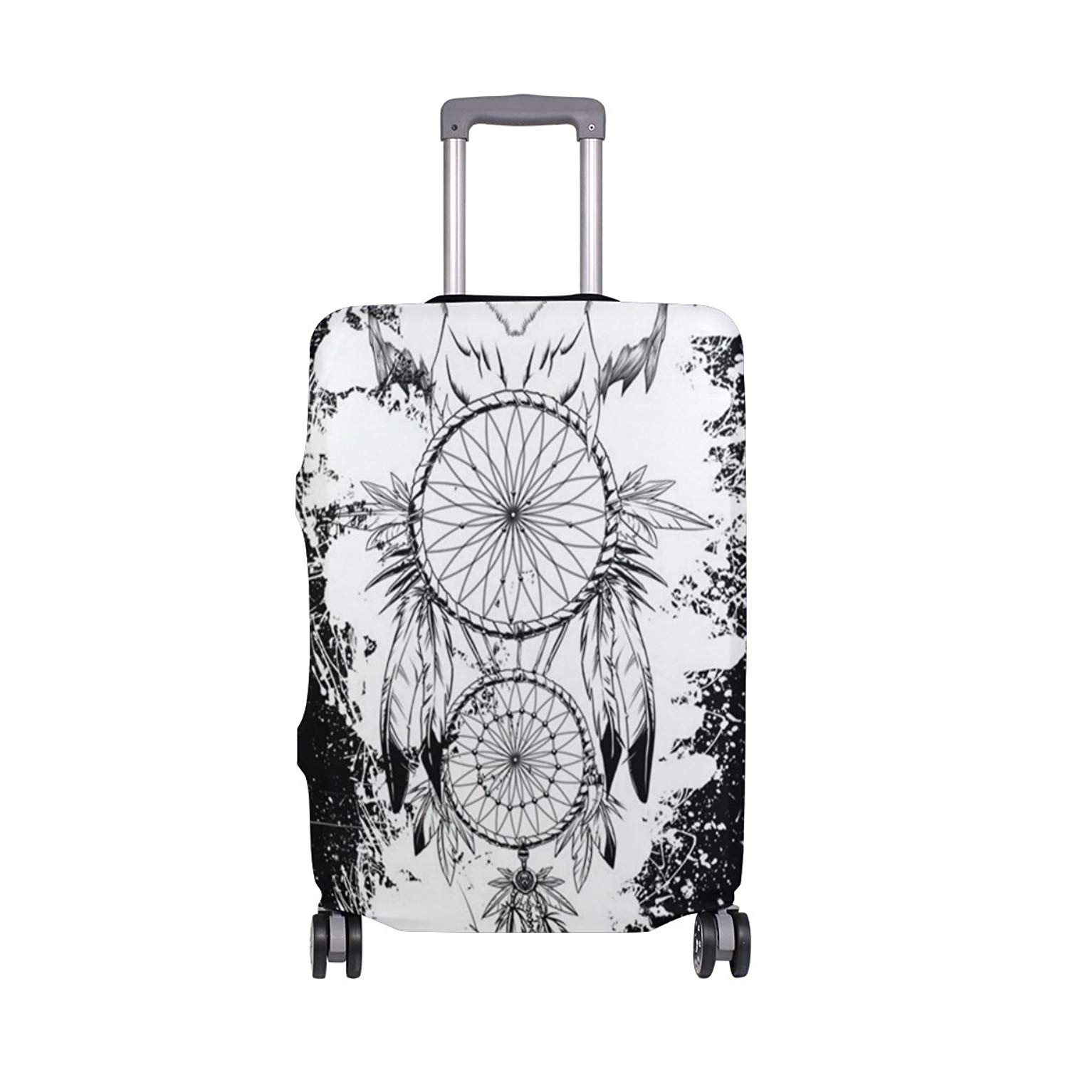 FOLPPLY Colorful Ethnic Africa Luggage Cover Baggage Suitcase Travel Protector Fit for 18-32 Inch