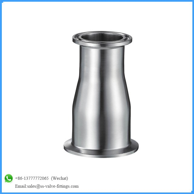 sanitary clamp concentric reducer and stainless steel SMS clamp pipe fittings