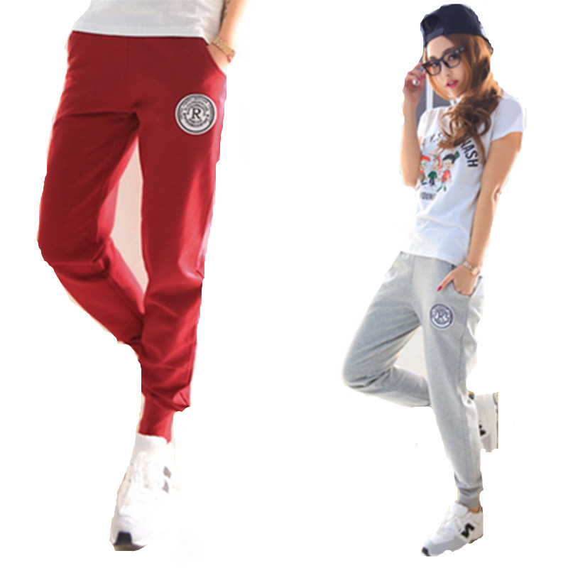 8a83ce5b6ed Buy Plus Size Letter R Sports Pants Female Pencil Pants 2015 Fashion Cotton  Trousers For Women Casual Slim Thin Sweatpants S-XXL in Cheap Price on ...