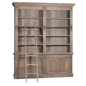 check out a038f b28bc Antique recycle teak wood bookcase with ladder