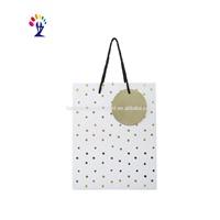 Low Cost Custom Wave Point Printing Laminated Paper Bag For Gift Packaging