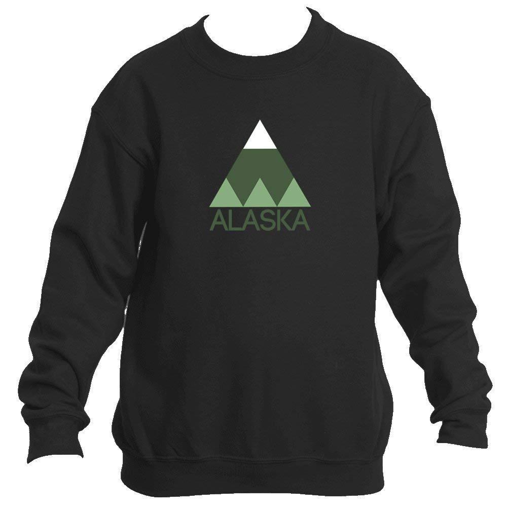 Alaska Minimal Mountain - Alaska Youth Fleece Crew Sweatshirt - Unisex