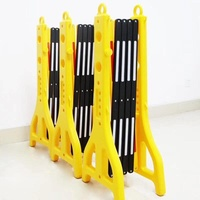 Durable Plastic Traffic Pedestrian Expandable Barrier Plastic Road Safety Barrier