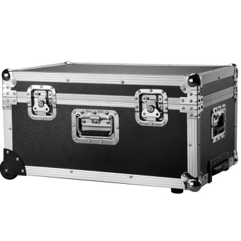 Lockable Silver Aluminum Speaker Camera DJ Flight Case with Equipment Foam Padding Butterfly Lock