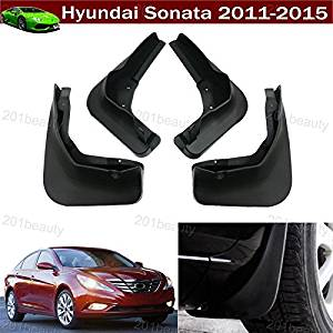 dianpo 4pcs For 2012-16 CHEVROLET SONIC//AVEO Car Front Rear Molded Splash Guards Mud Flaps Mudguards