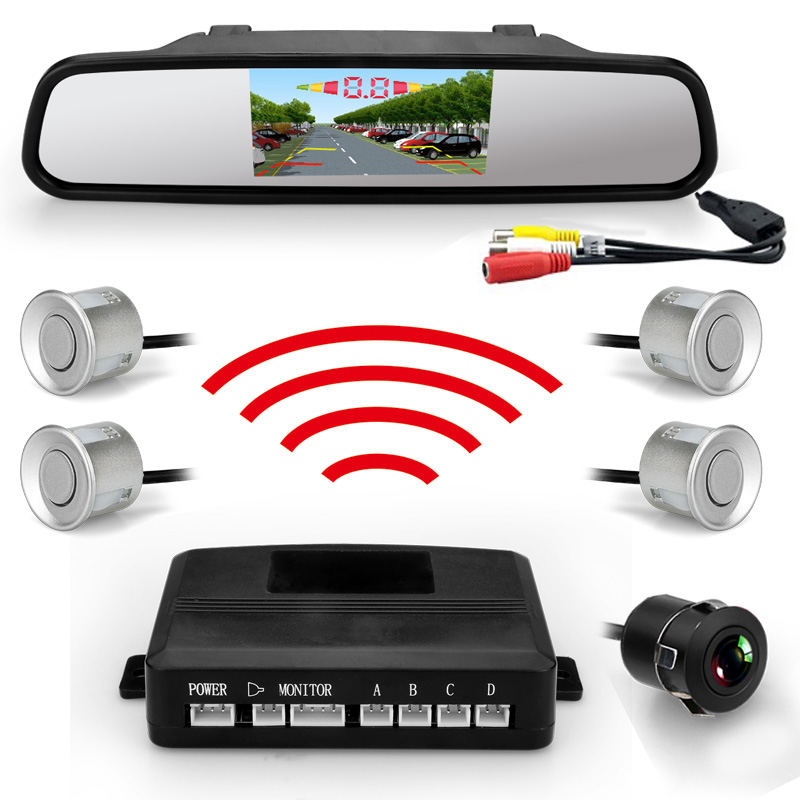 2017 newest lcd screen rear view camera wireless smart parking sensor