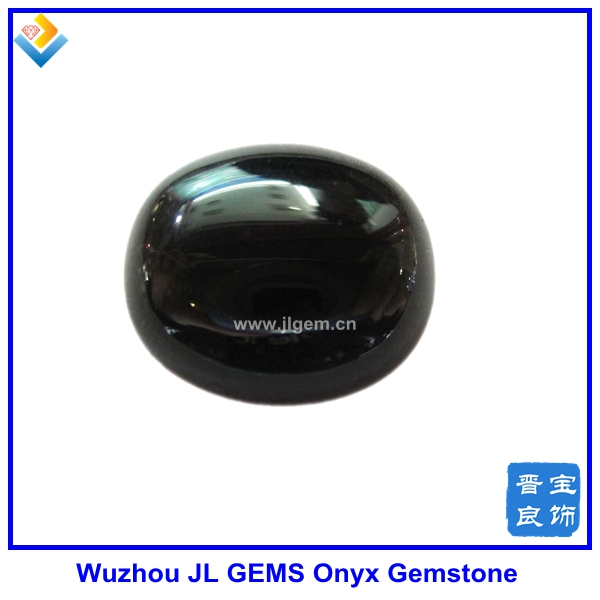 semiprecious natural black oval agate