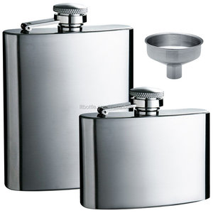 gift set 2 packs Stainless Steel Leak Proof Liquor Hip Flasks with Funnel for Storing Whiskey Alcohol