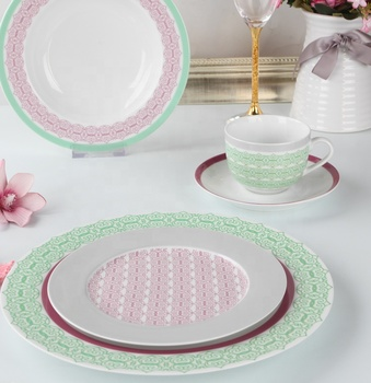 Professionally manufacture fine bone china dinnerware sets glazed