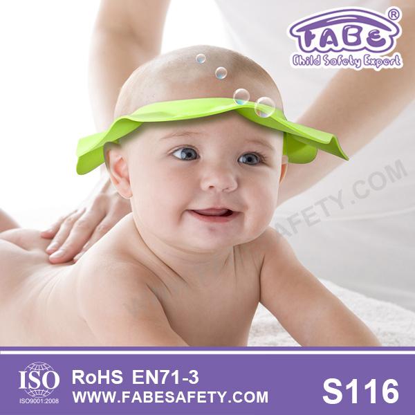 Baby Shower Cap/safe Shampoo Shower Bathing Bath Protect Soft Cap ...