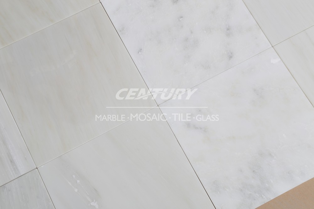 statuary white polished finish flooring marble countertop tiles