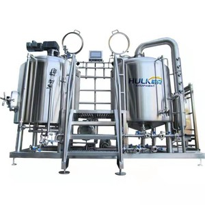 A whole set 500l craft fermenting equipment Steam heat beer brewery equipment