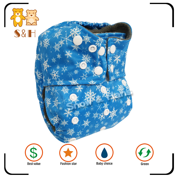 Fashion design high quality eco friendly cloth baby reusable diaper