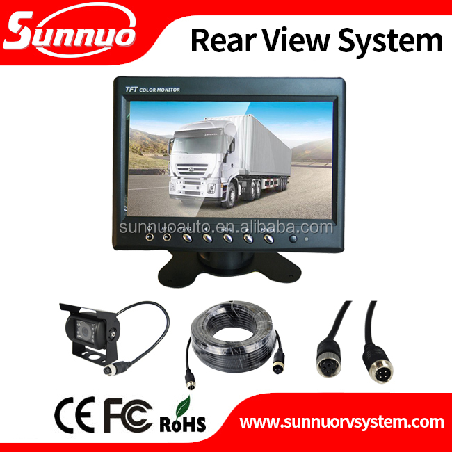 Hot selling bus rear view system 7inch dash board display with night vision truck system