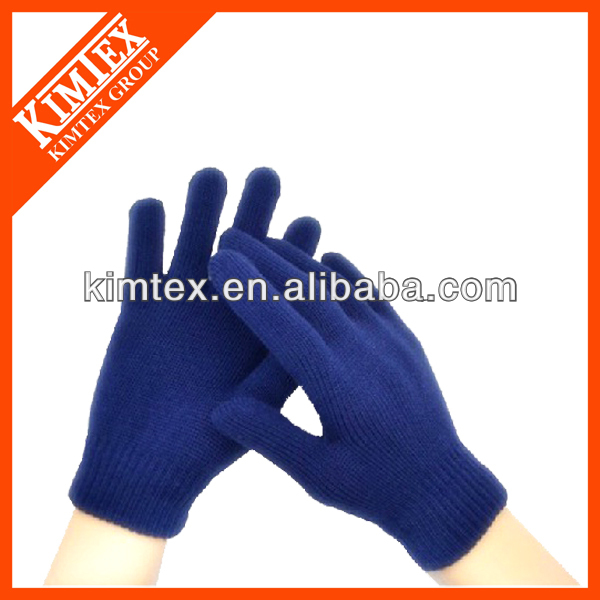 2015 Newest fashion knit custom acrylic magic stretch gloves