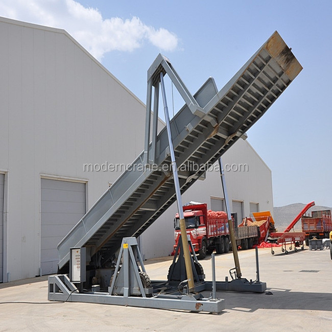 Harvest Fruit Vegetables Container unloading platform