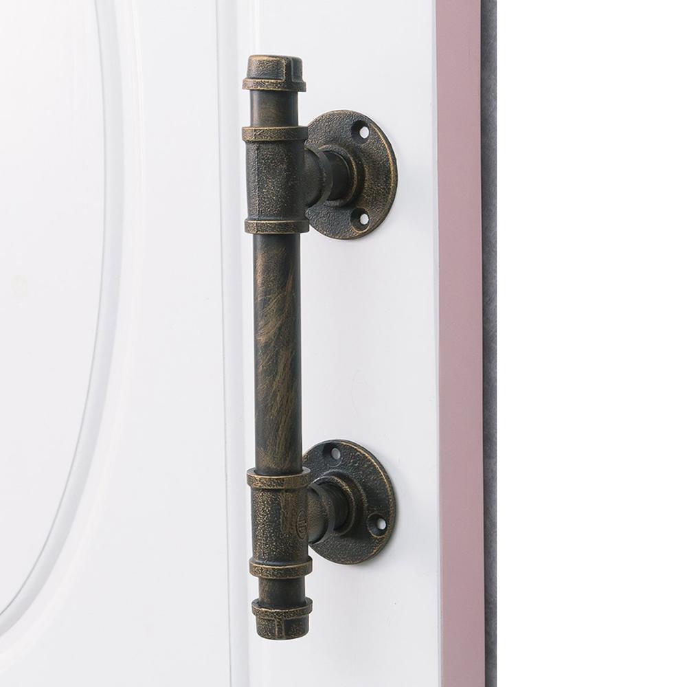 Industrial Iron Door Handle Antique Rustic Cast Gate Towel Racks DIY Holder