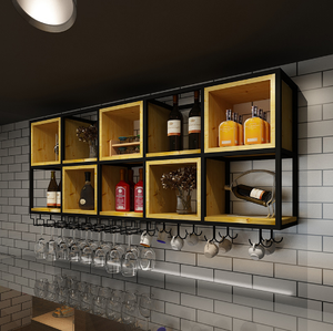 Metal wine display cabinet furniture bar and modern wine cabinet
