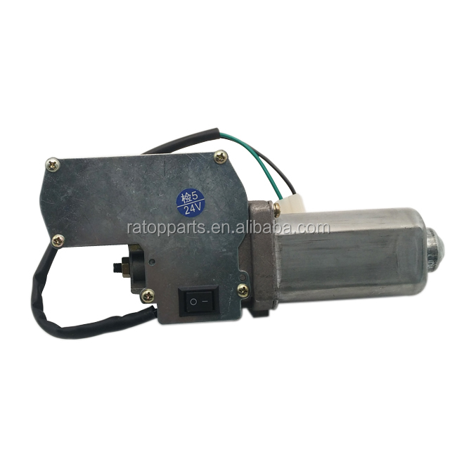 Good quality SH200-3 excavator electric parts wiper motor assembly,wiper motor gear