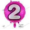2016new design number print round shape foil balloon aluminum helium balloon