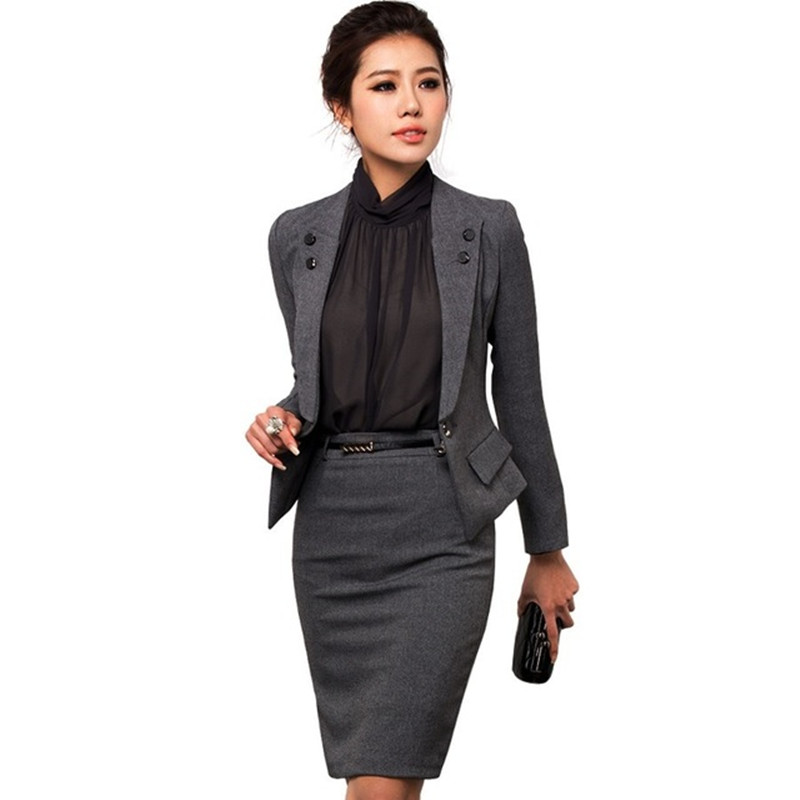 Custom vrouwen kantoor uniform ontwerp stijl ensembles for Office design uniform