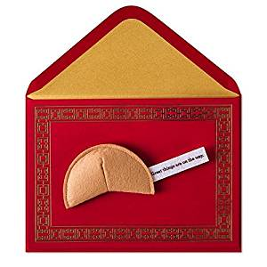 Good Luck Card Felt Fortune Cookie by Papyrus