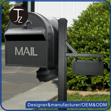 Designer outdoor free standing galvanized stainless steel mailbox home shaped mailbox