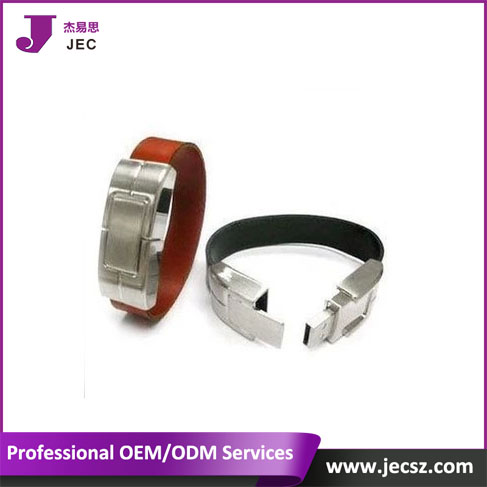Leather bracelet usb flash drive with flash memory usb Model JEC-422