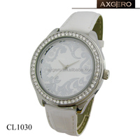 ladys geneva flower watch with crystal