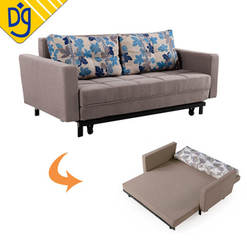 Fabric Folding Sleeper Sofa Bed With Armrest For Thailand