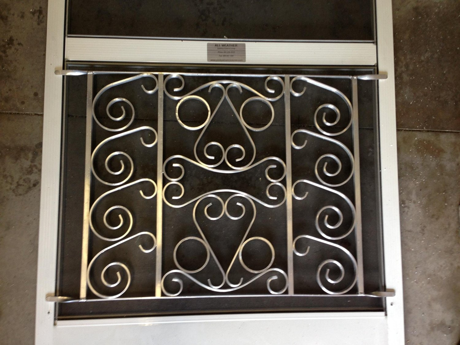 Get Quotations · Designer Style Screen Door Grille, Screen Door Pet Guard,  (Mill Finish),