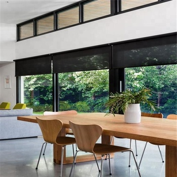 Motorized battery PVC roller window blinds