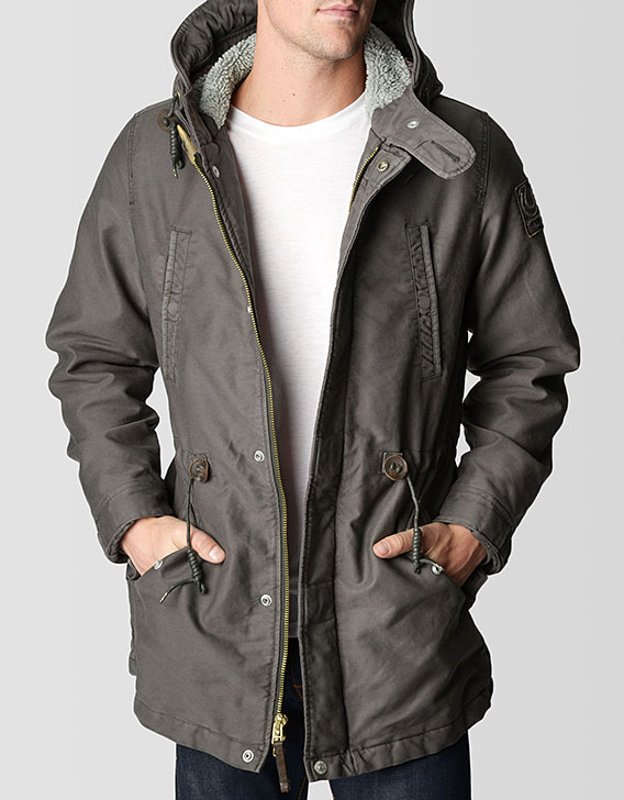 Men's Sherpa Lined Mens Parka Jacket - Buy Mens Jacket With Fur ...
