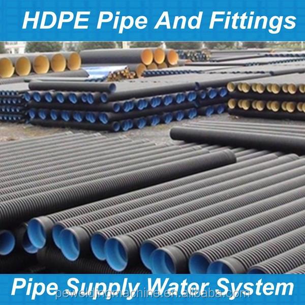 Hdpe Double Wall Corrugated Pipe/hdpe 110mm Tubo Corrugato