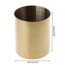 Золотой держатель контейнерный горшок для настольной ручки для хранения карандашей и органайзер домашний стол канцелярский Декор(Китай)