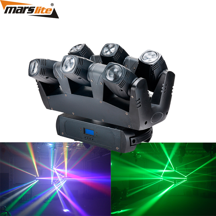 Moving Head spider lights LED 6x10W RGBW Moving Head Show Light Disco KTV DJ Club Show Bar Led Stage Lighting / sweeper beam led