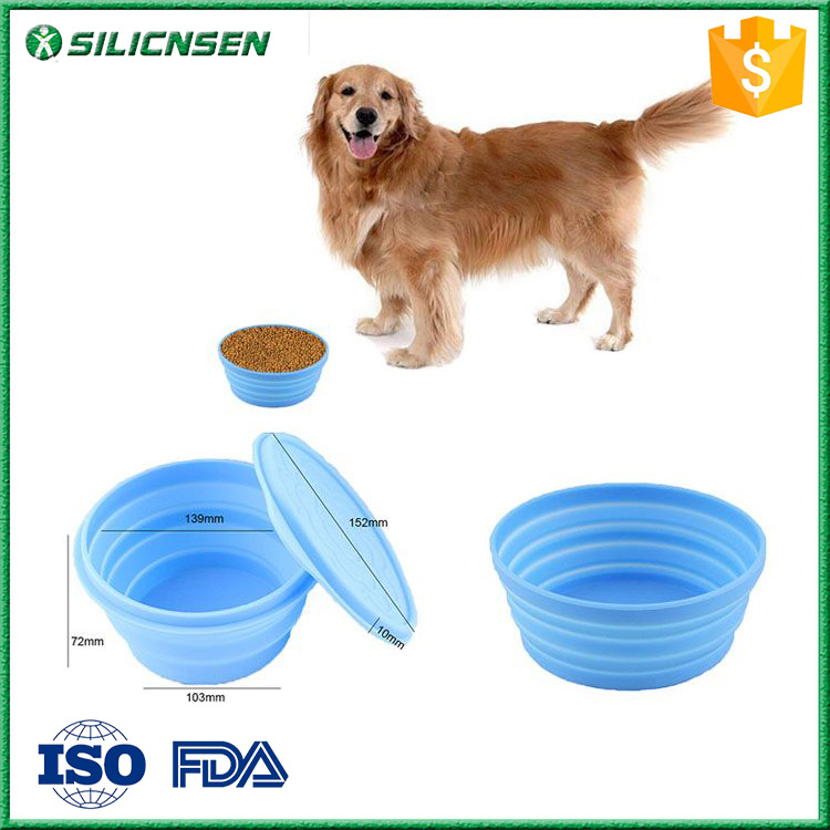 Multi Functional Silicone Washing Up Collapsible Dog/Pet Bowl with Lid