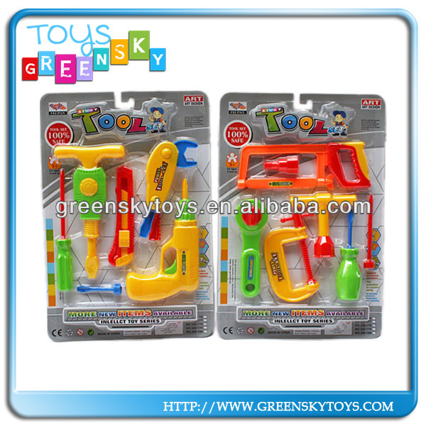 Construction tool toys for children playing