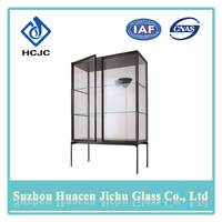 Flexible connection installs quickly cabinet glass door